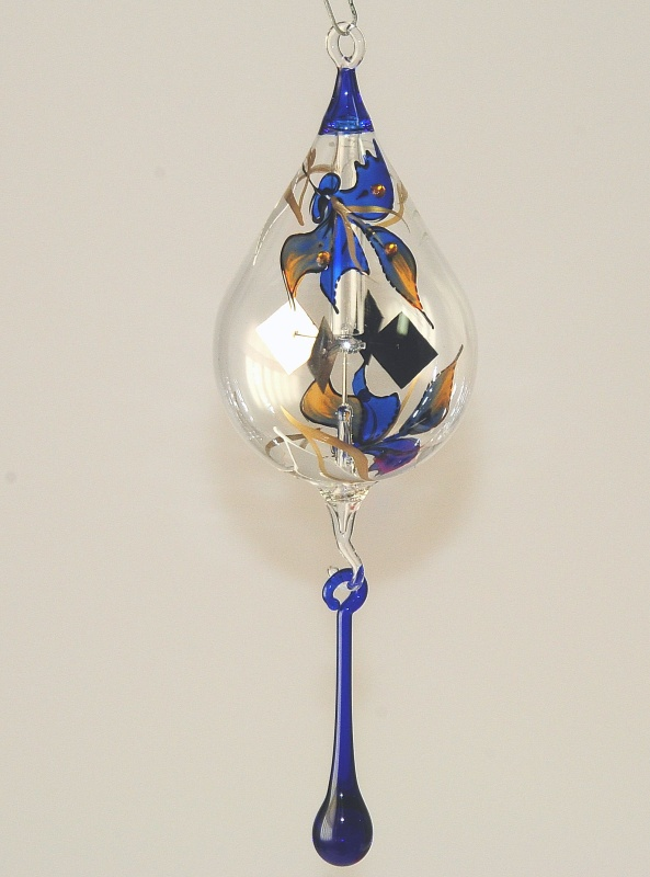 Orchidee Klebrige Tropfen : lichtm hle tropfen 8 cm 39 orchidee 39 blau satiniert ~ Lizthompson.info Haus und Dekorationen