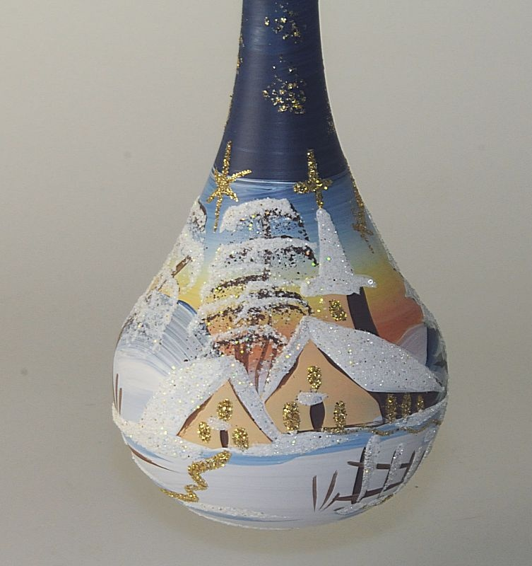 Tropfen gro 39 winterzauber 39 blau glas geschenke - Dekoration winterzauber ...