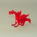 Drachen rot klein