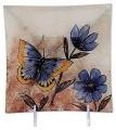 Glasplatte Schmetterling mit Blume