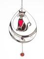 Schmetterling 24, grün-rose, Fensterbild Tiffany -NEU-