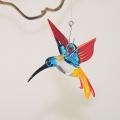 Kolibri Mini, kristall, blau, rot, gelb  -NEU-