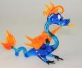 Drachen stehend, blau-orange     -NEU-