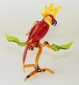 Kakadu auf Ast groß, stehend, rot  NEU