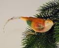 Vogel mit Federschwanz, farbig seidenmatt    -NEU-