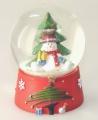 Schneekugel frostige Weihnacht Schneemann