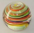 Traum-Glas-Kugel groß, bunte Spirale