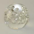 Traum-Glas-Kugel medium,  klar mit Luftblasen