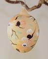 Osterei, mundgeblasen mattlack gelbe Blüten