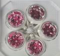 Reflexkugeln 6 cm, Eislack weiß, zum roten Waffelmuster