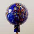 Gartenkugel Granulat dunkelblau