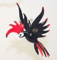 Kardinalvogel hängend, Rot  -NEU-
