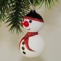 Schneemann mit roten Schal  -NEU-