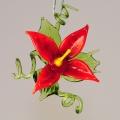 Blüte stehend und hängend, klein, rot   -Neu-