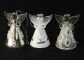 Engel aus Glas, klar- weiß 3er Box