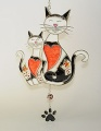 Hänger Katzenpaar weiß-schwarz  Tiffany  - Neu -