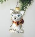 Katze mit roter Schleife       -NEU-