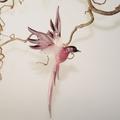 Paradiesvogel groß hängend, altrosa-flieder  -NEU-