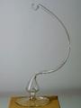 Glasständer Klarglas für eine Kugel oder Glocke d 12 cm