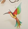 Kolibri hängend, kristall, rot-grün