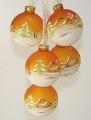 Leuchtgehänge 5-tlg. Kugeln, Hütte orange-weiß
