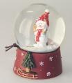 Schneefallkugeln  mit Schneemann mit roter Mütze NEU