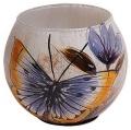Teelichthalter Schmetterling mit Blume