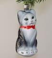 Katze ( Eichh.) lackiert, schwarz mit weißen Latz   -NEU-