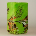 Kastenvase Granulat grün