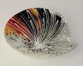 Glasplatte Capella, blattförmig 19 cm  -NEU-