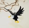 Weißkopfseeadler mit Krallen fliegend  -NEU-