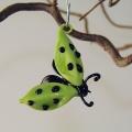 Glückskäfer zum Hängen grün, Flügel offen -Neu-