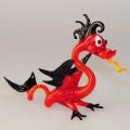 Drachen stehend lustig, rot-schwarz