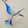 Kolibri hängend, kristall-blau