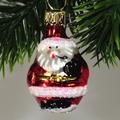 kugeliger Mini-Weihnachtsmann, m. Pfeife