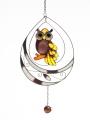 Schmetterling 24, rose- grün, Fensterbild Tiffany -NEU-