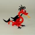 Drachen stehend, rot-schwarz