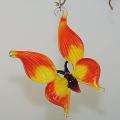 Schmetterling, zum hängen,  orange-rot      -NEU-