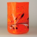 Kastenvase Granulat orange