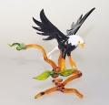 Weißkopfseeadlergroß, stehend auf Ast fliegend    -NEU-