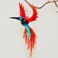 Kolibri hängend, 210,  klein aquablau- rot,