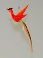 Paradiesvogel hängend, orange