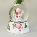 Schneefallkugeln  mit Schneemann mit Baum rot/weiß