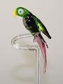 Blumenstab Papagei ohne Flügel, kristall-grün-flieder