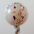 Gartenkugel Granulat weiß