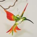 Kolibri hängend, kristall-grün-gelb-rot