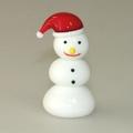 Schneemann mit roter Mütze
