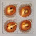 Oliven klein, terracotta matt, Würfelmuster Goldglimmer