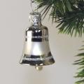 Mini-Glöckchen 3 cm, Silber glanz dekor  -NEU-