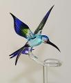 Orchideenstab Bienenfresser, hellblau-grün-blau  -NEU-